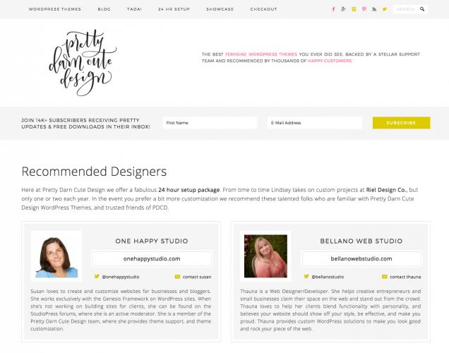 Recommended Designer