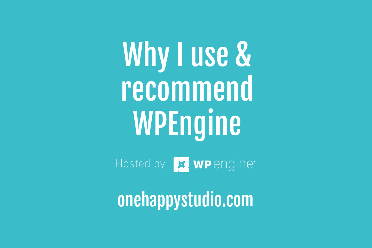 One Happy Studio uses and recommends WPEngine
