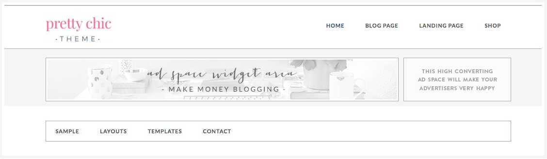 Create a larger Header in the Pretty Chic WordPress theme by Pretty Darn Cute Design