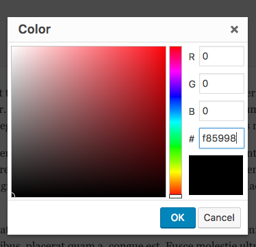 How to change Text color within a WordPress post or page