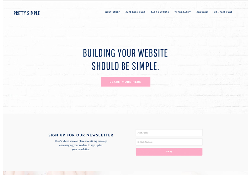 Best Feminine WordPress Themes For Bloggers & Female Entrepreneurs Pretty Simple WordPress Theme by Pretty Darn Cute Design
