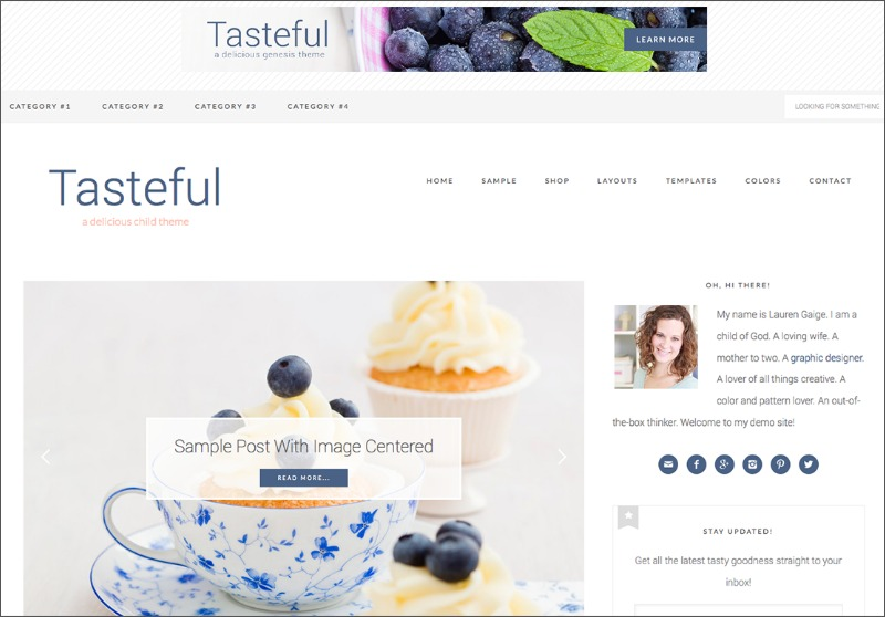 Best Feminine WordPress Themes For Bloggers & Female Entrepreneurs Tasteful Premium WordPress theme by Restored 316