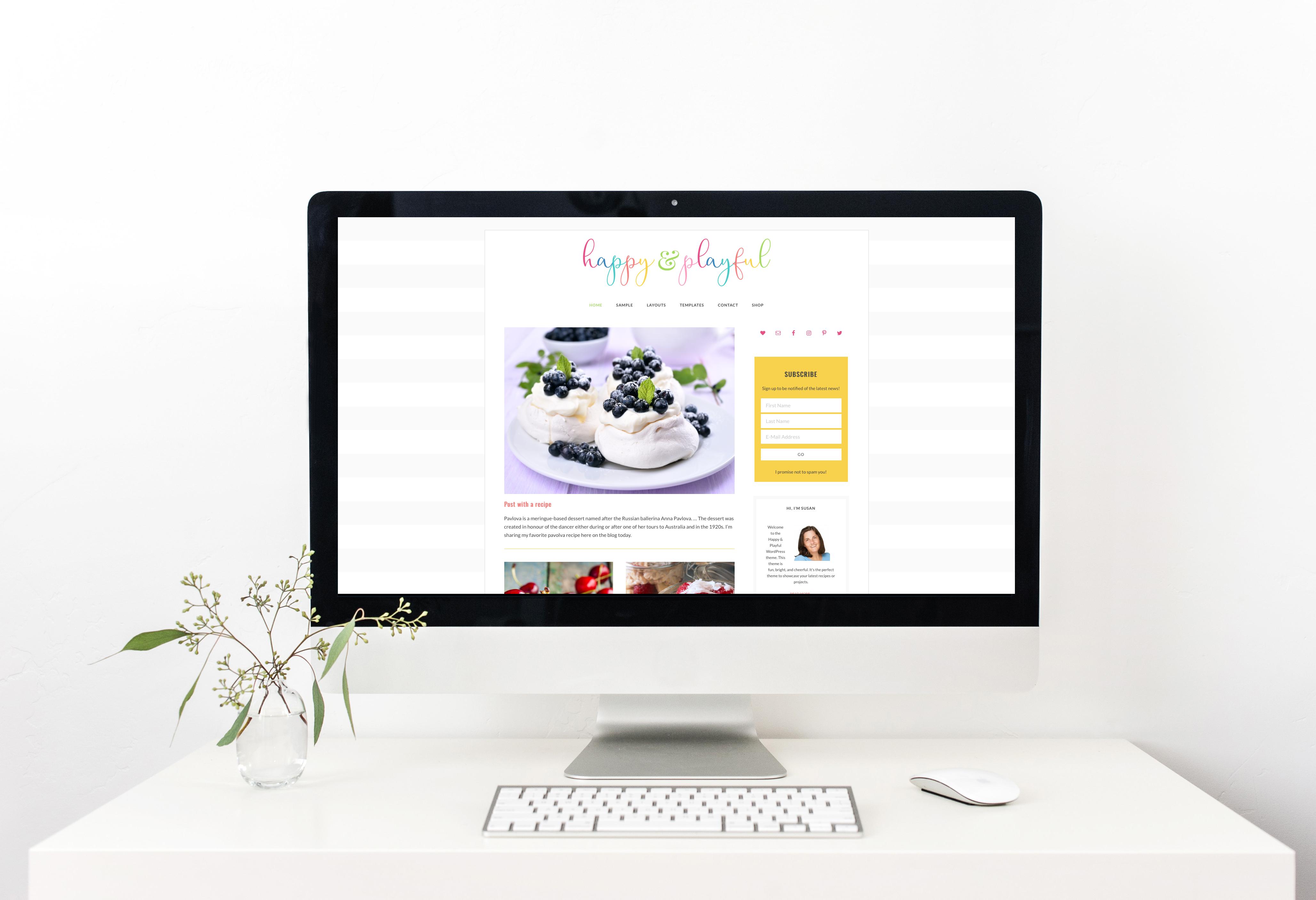 Feminine WordPress themes by One Happy Studio | Happy & Playful WordPress Theme
