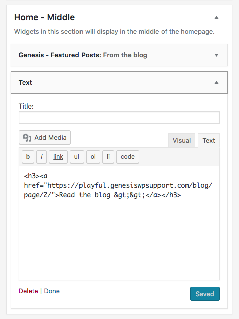 Add pagination to home page