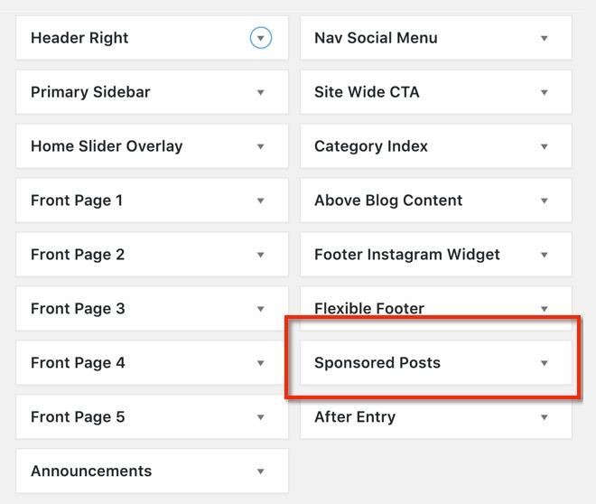 Add Disclosure Widget to Specific Categories