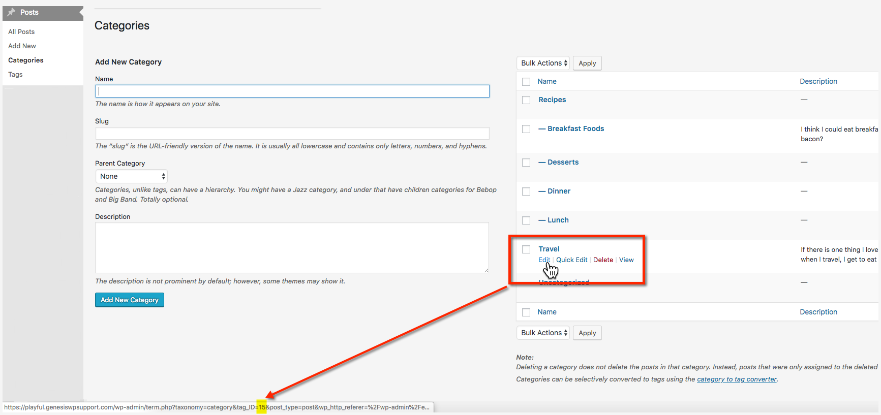 Exclude categories from the WordPress category widget